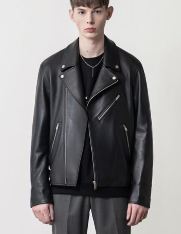 LAMBSKIN OFFICIAL LEATHER RIDER JACKET