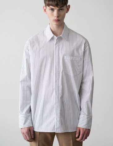 SENSUAL OVERFIT WIDE SHIRT [STRIPE]