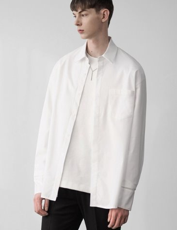 SENSUAL OVERFIT WIDE SHIRT [WHITE]