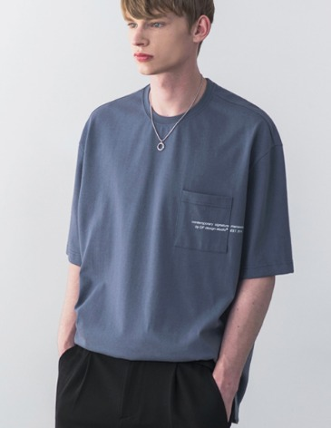 SIGNATURE POCKET T-SHIRT [INDI BLUE]
